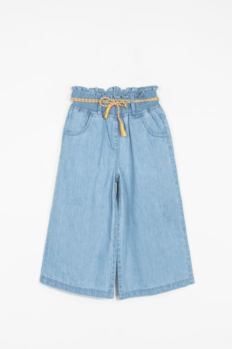 Cropped jeans culotte trousers