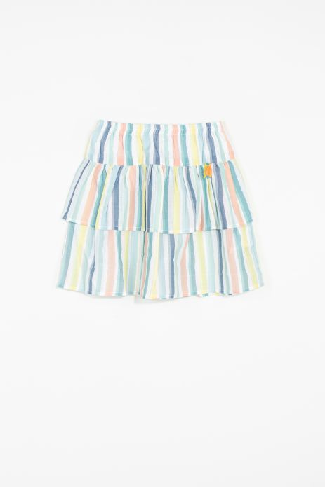 Woven skirt with cotton lining
