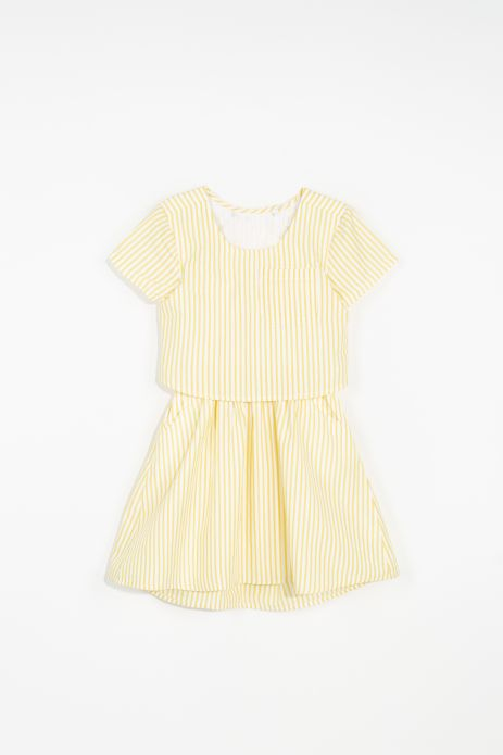 Woven dress with cotton lining