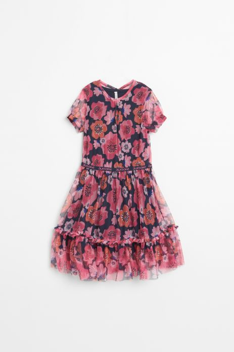 Tulle dress with cotton lining