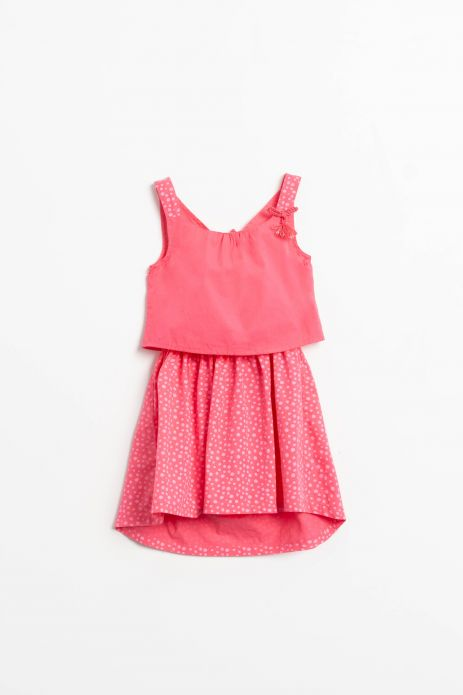 Camisole woven dress with cotton lining