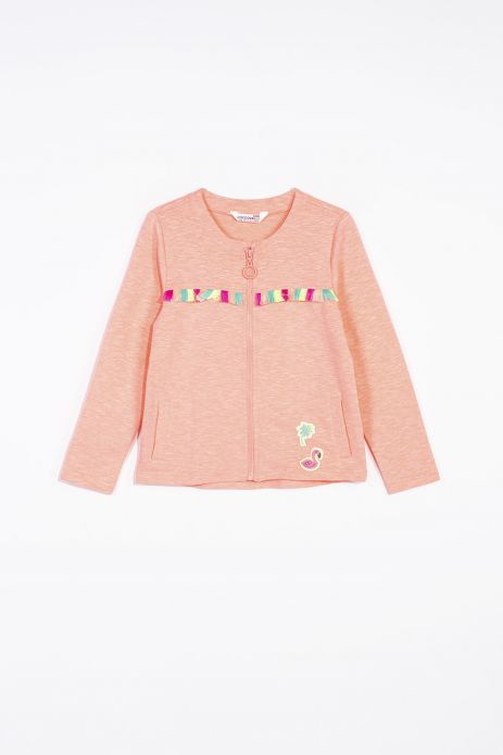 Sweatshirt with tassels