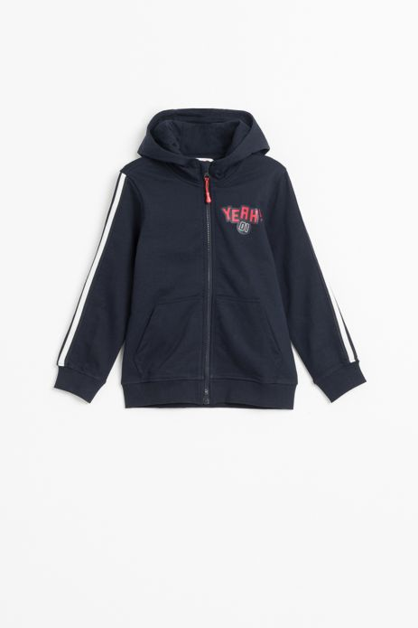 Sweatshirt with hood and zipper