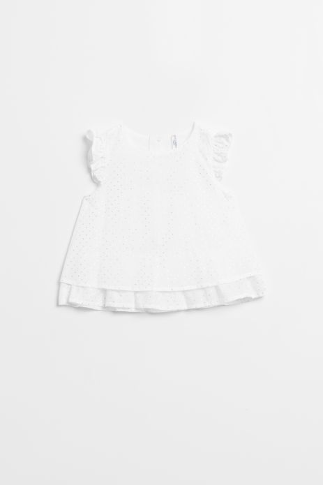 Woven blouse with small frills