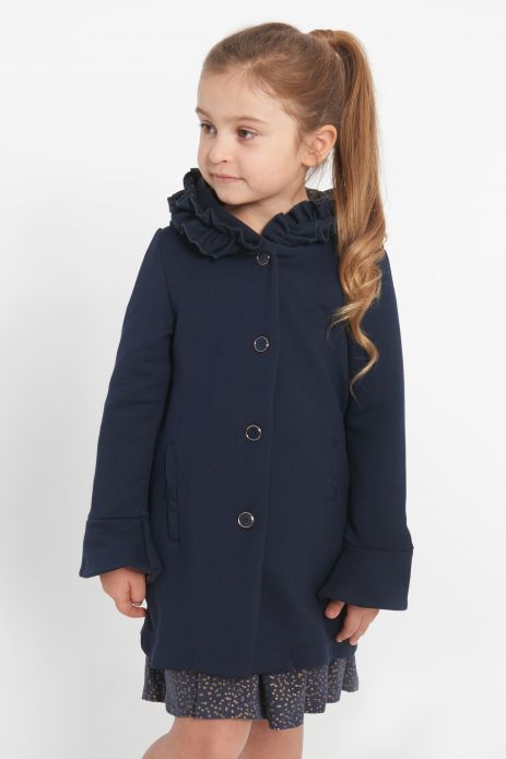 Coat with cotton lining and hood