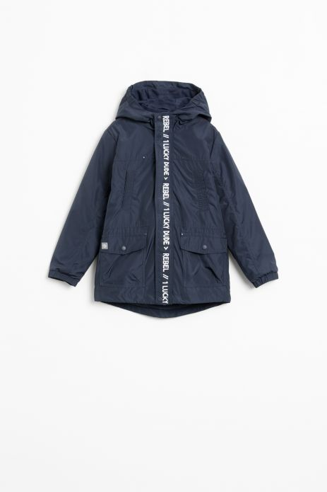 Jacket with detachable sweatshirt