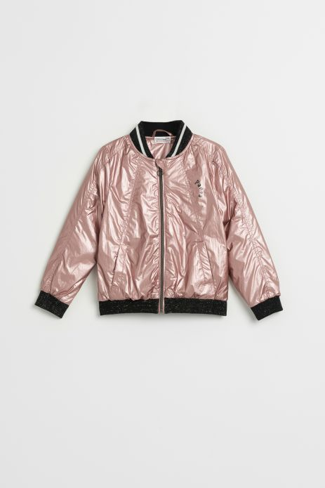 Shiny fabric jacket