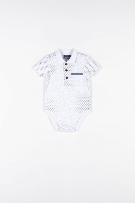 Bodysuit with short sleeves