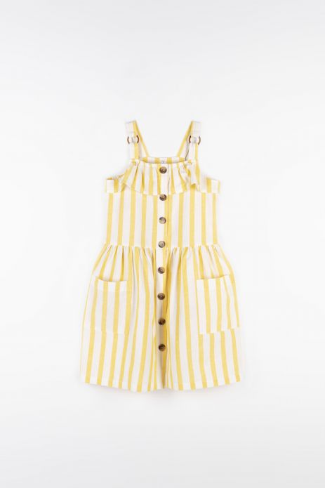 Dress with linen