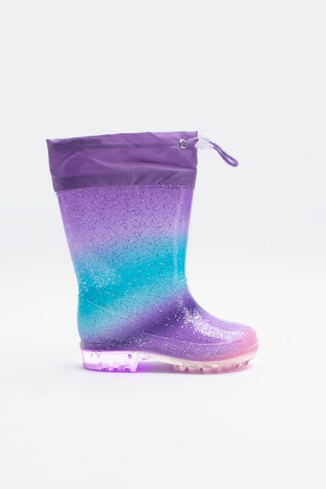 Rain boots with drawstring