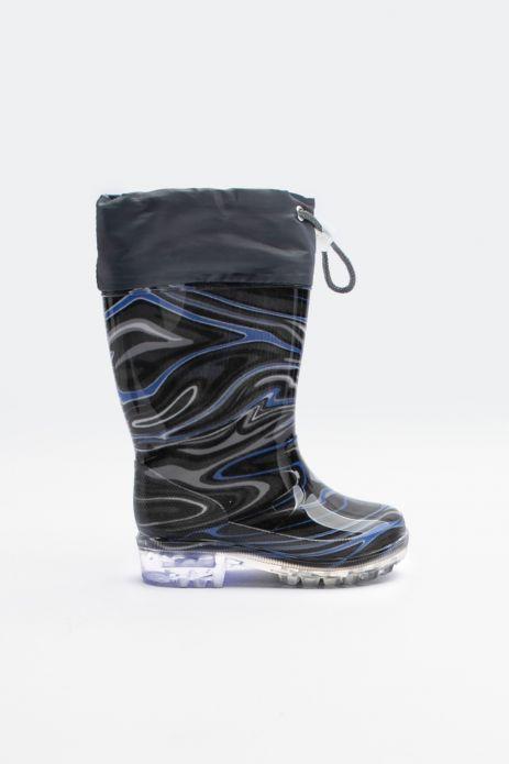 Rain boots with drawstring